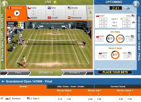 Virtual Sports gokken screenshot