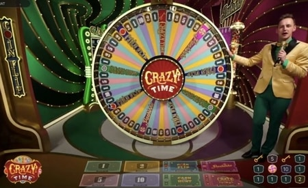 Crazy Time nieuw spel in het live casino screenshot