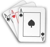 3 card poker three of a kind