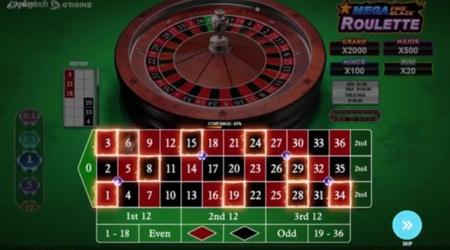 Playtech Mega Fire Blaze Roulette Live screenshot